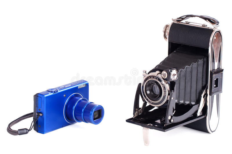 Download Vintage And Modern Photography Camera Stock Photo - Image of flash, modern: 30862300