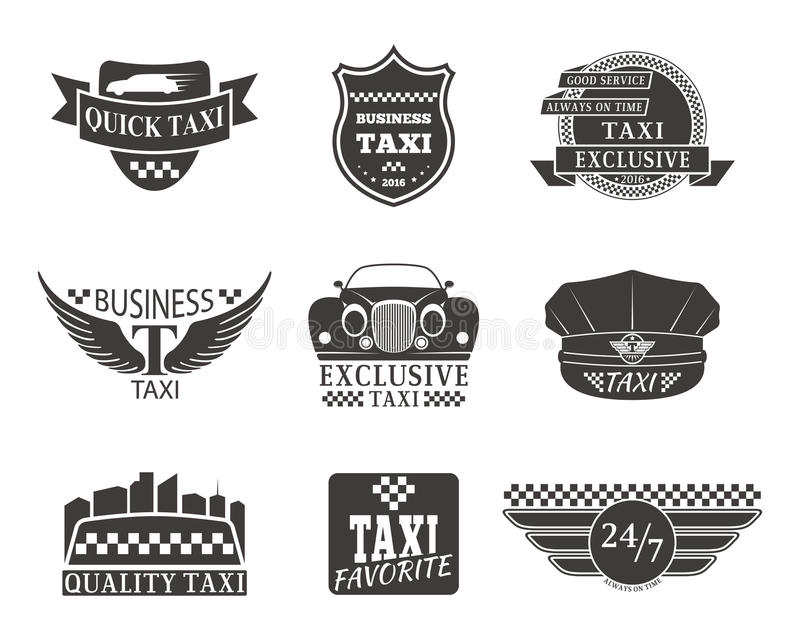Taxi badge car service business sign template vector illustration. royalty free illustration