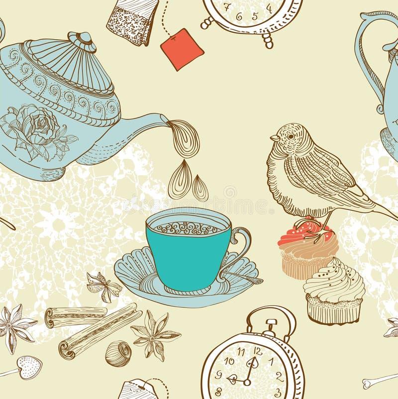 Vintage morning tea background