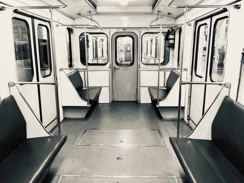 Vintage Moscow Metro stock photo