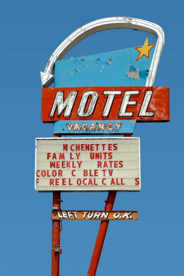 Vintage motel sign royalty free stock photo