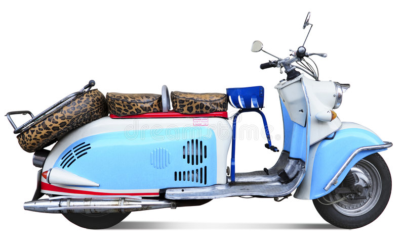 Vintage motor scooter stock photo