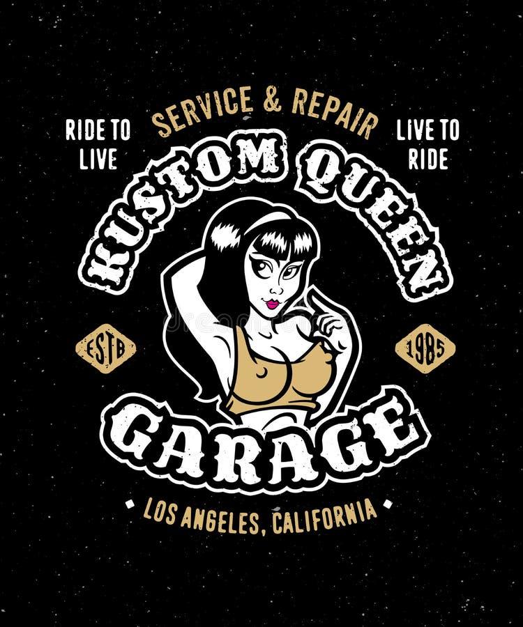 Vintage motorcycle auto garage apparel design vector illustration