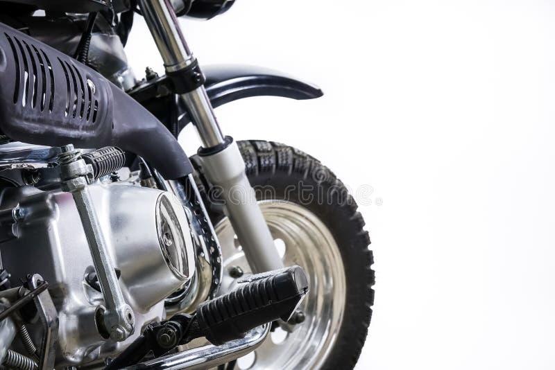 Vintage motorcycle. Custom scrambler motocross. Retro motorbike. On white background. Blank copy space for text stock image