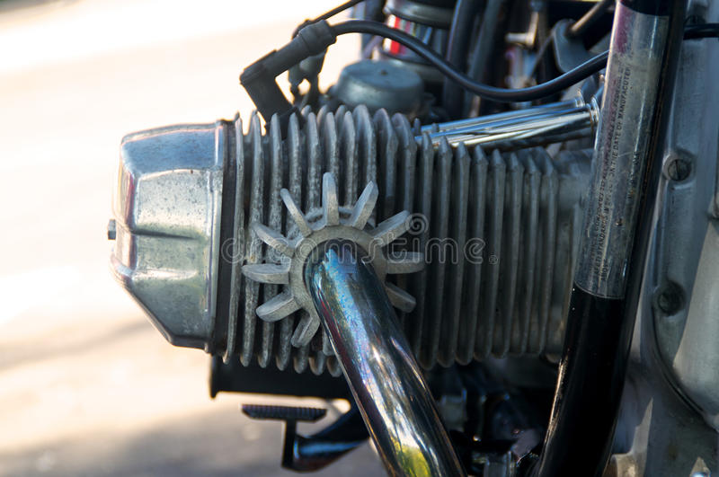 Download Vintage Motorcycle Cylinder Head Stock Photo - Image: 36424084
