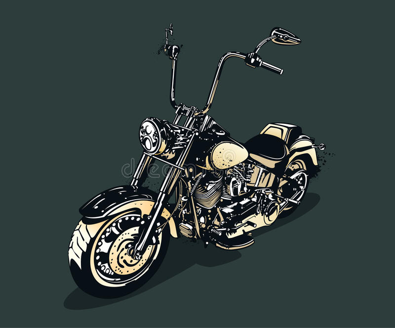 Download Vintage motorcycle stock vector. Image of biker, ride - 31423496