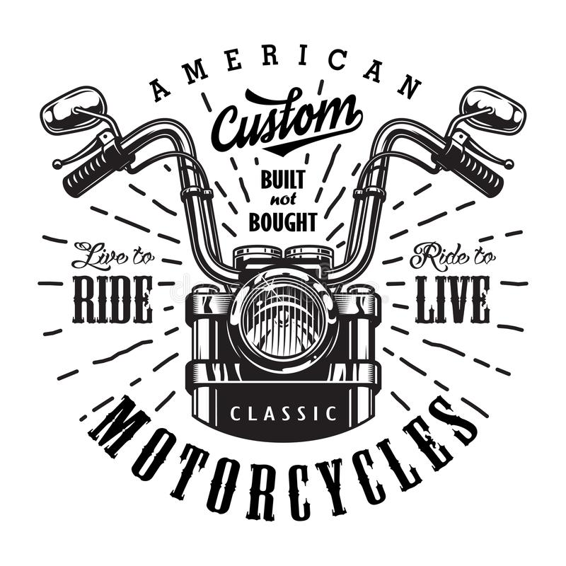 Vintage motorcycle logo template royalty free illustration