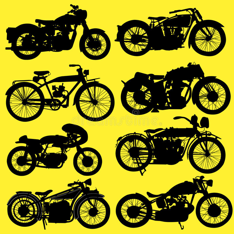Vintage Motorcycle Motorbike Vector Royalty Free Stock Images