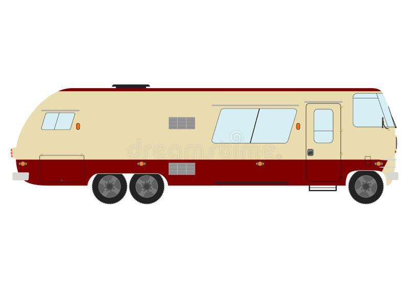 Download Vintage Motorhome Stock Illustration Image Of Camp
