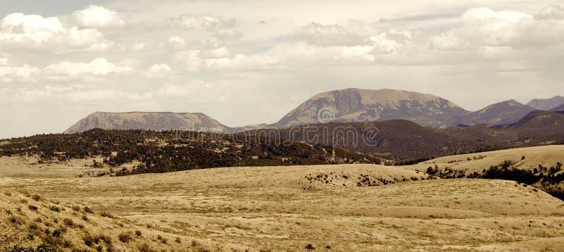 Download Vintage Mountain Range Panorama Stock Photo - Image: 22672908