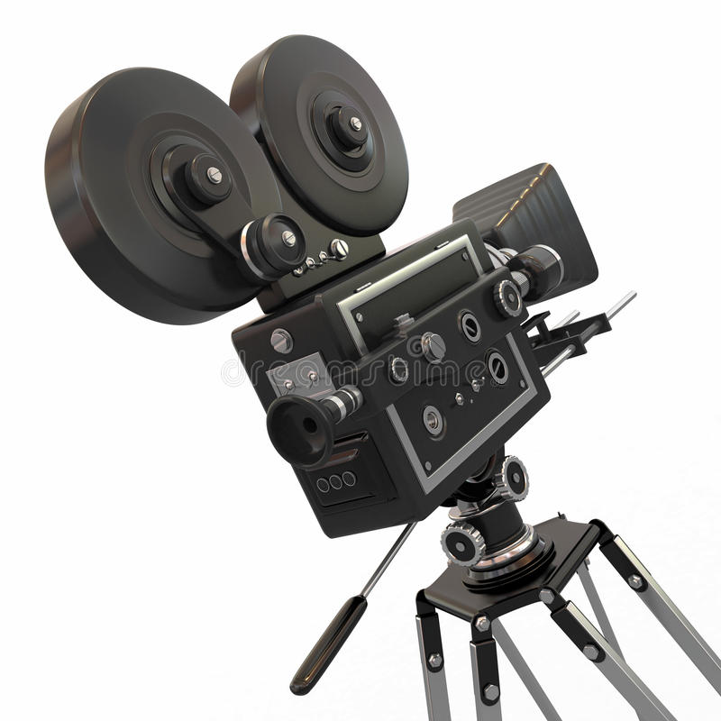 Vintage movie camera. 3d stock illustration. Illustration ... Кинокамера
