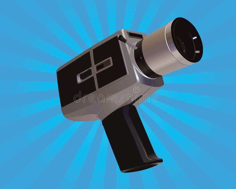 Download Vintage Movie Camera Illustration Stock Vector - Illustration: 13428344