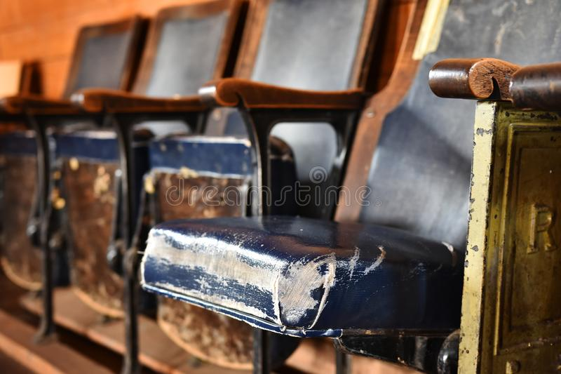 Vintage Movie Theater Seats stock photography