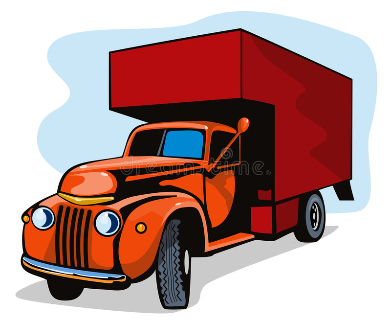 Download Vintage moving van stock vector. Image of white, light - 3526133