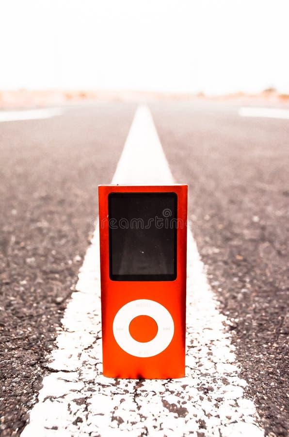 Vintage MP3 Music Player. On an Asphalt Road stock photos