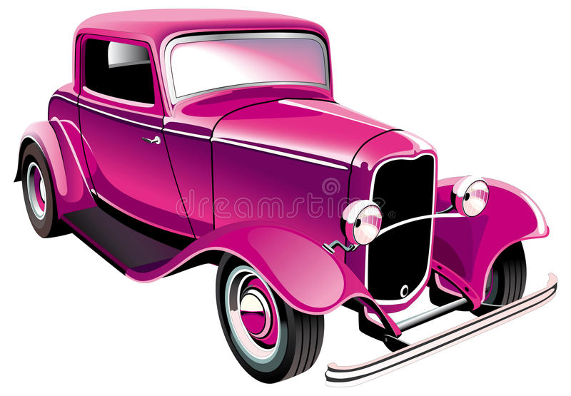 Vintage muscle car vector illustration