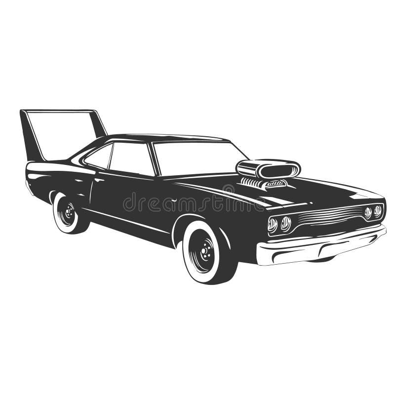Vintage muscle car. vector illustration