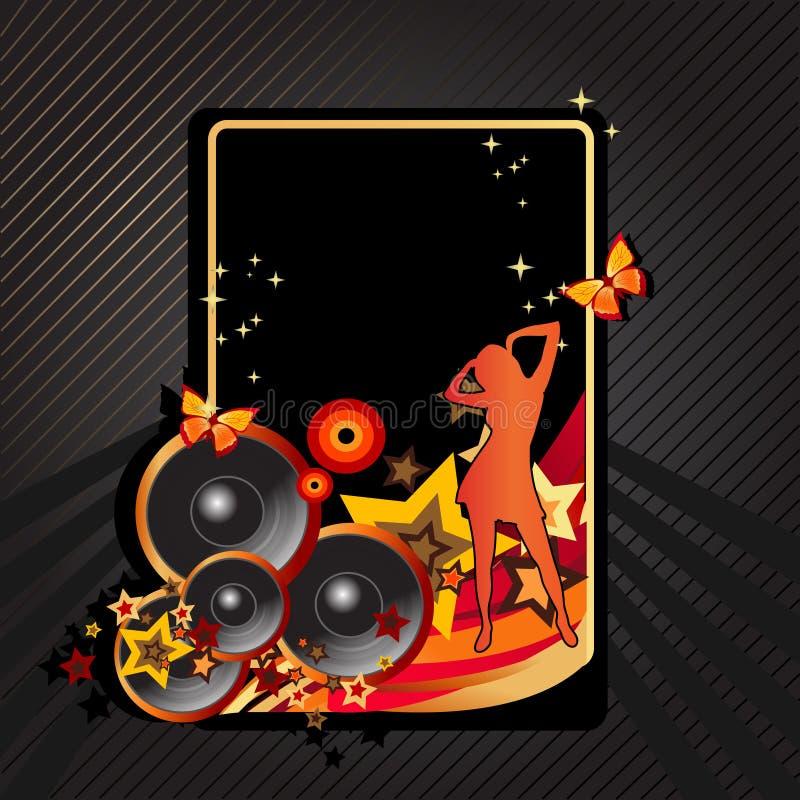 Vintage music background royalty free illustration