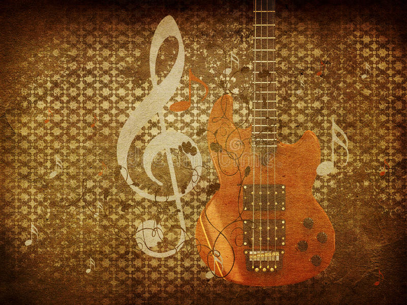 Vintage music guitar background royalty free stock photography