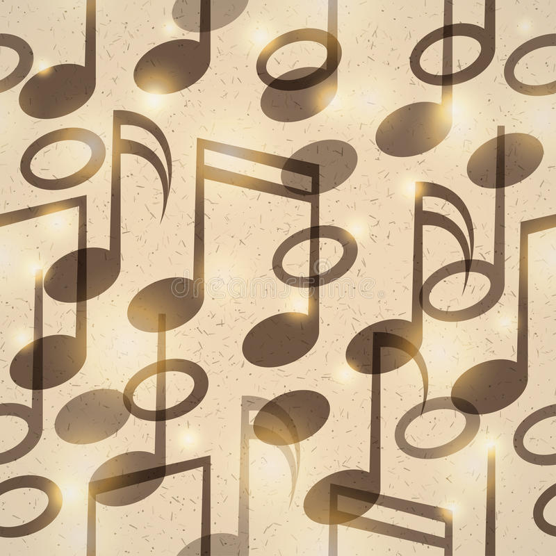 Vintage music pattern vector illustration