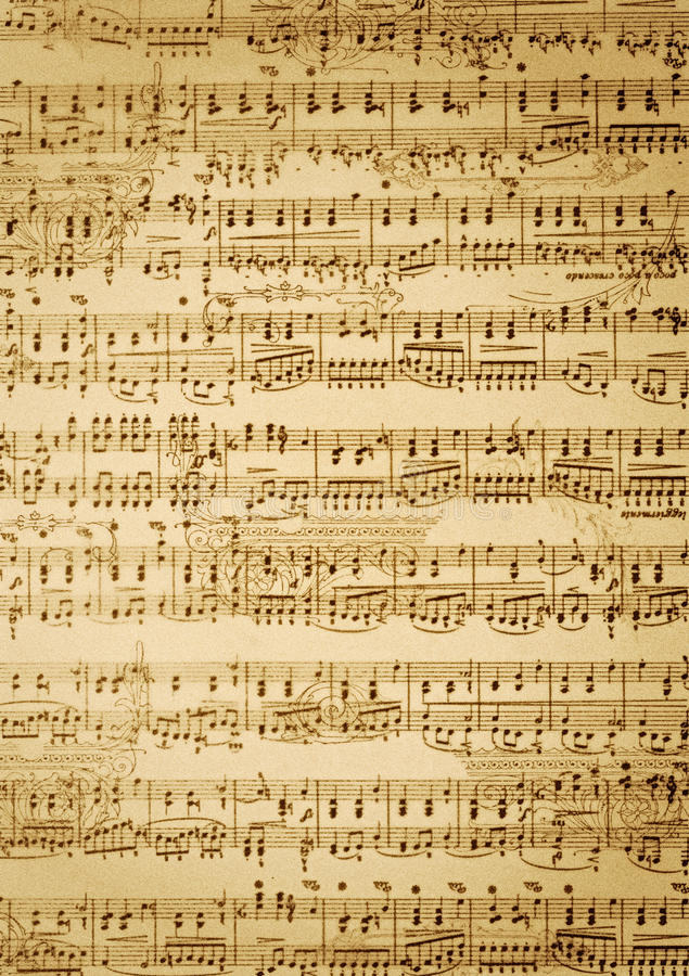 Download Vintage  Music Sheet Stock Photography - Image: 10637062