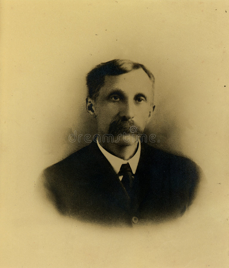 Download Vintage Mustache stock photo. Image of relative, business - 60044