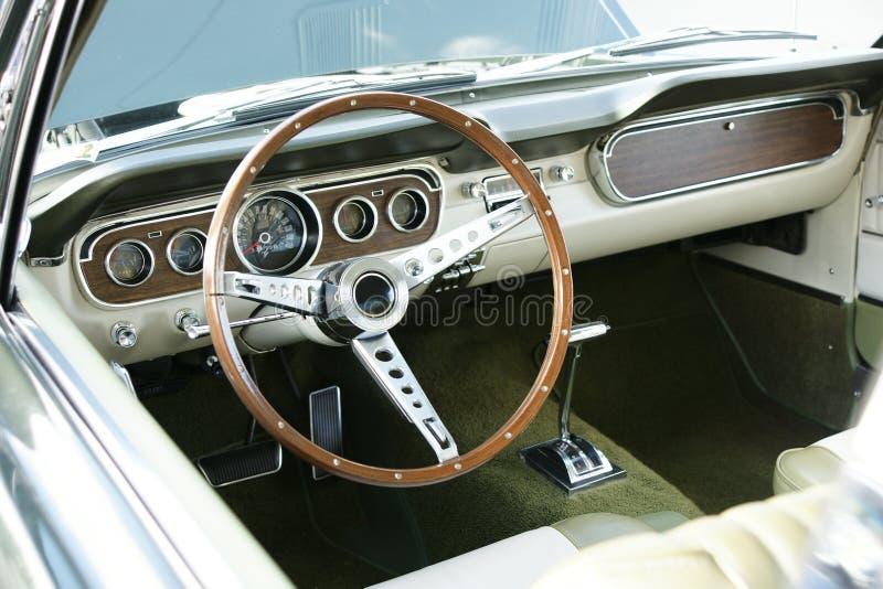Vintage Mustang Dashboard stock photos