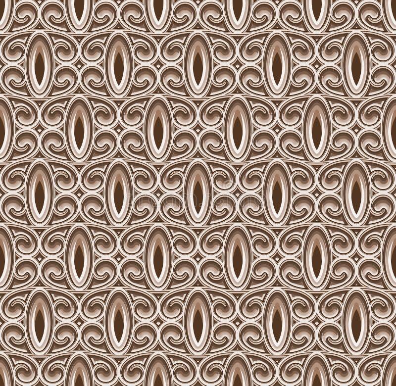 Vintage naadloos patroon, fretwork textuur vector illustratie