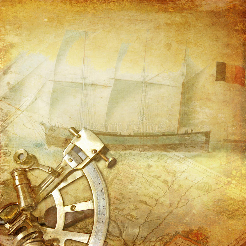 Vintage nautical background stock image