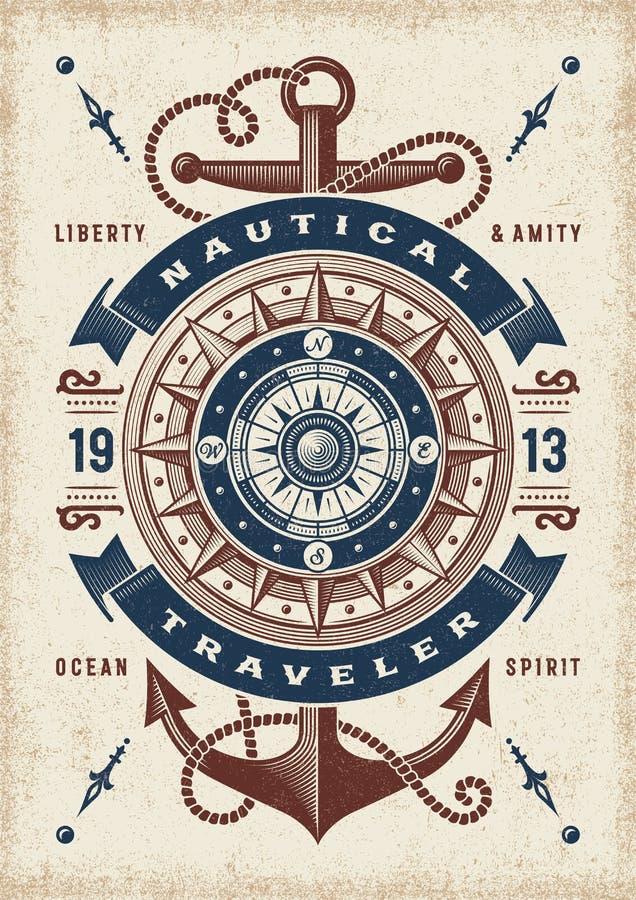 Free Vintage Nautical Traveler Typography Royalty Free Stock Photo - 141591355