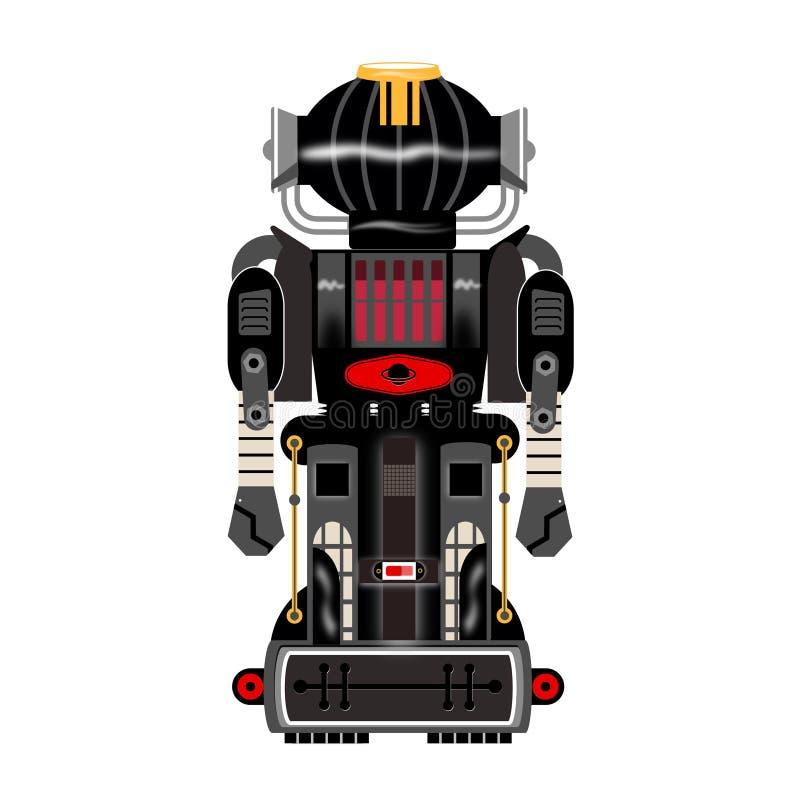 Vintage negro del robot imagenes de archivo