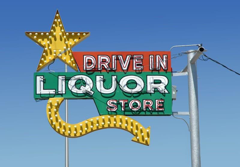 Vintage neon liquor royalty free stock photo