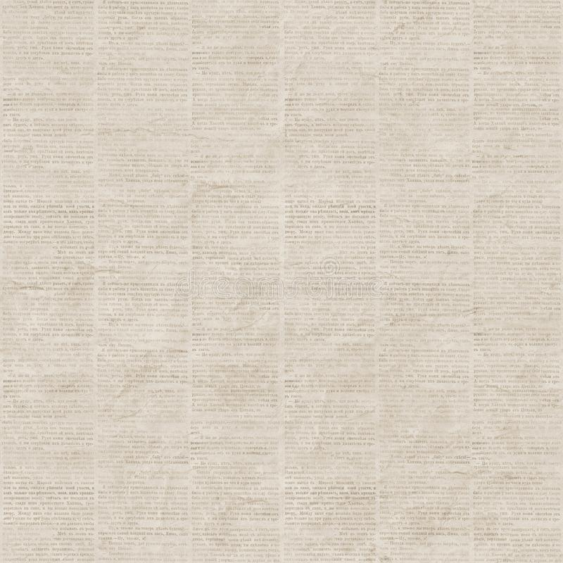 Vintage newspaper seamless pattern. Vintage newspaper texture seamless pattern. A newspaper page illustration from a vintage old Russian newspaper of 1893. Gray royalty free stock photos