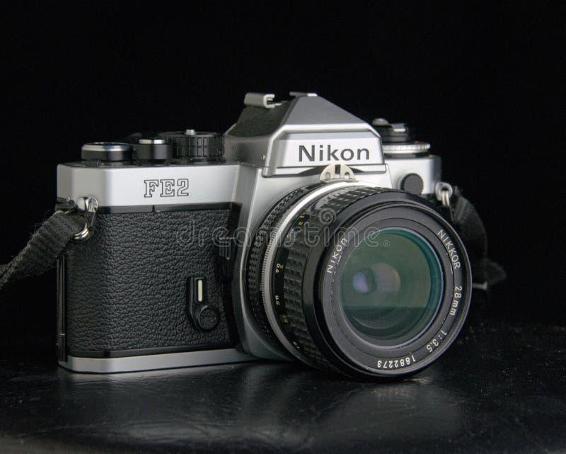 Vintage Nikon FE2 film SLR stock photos