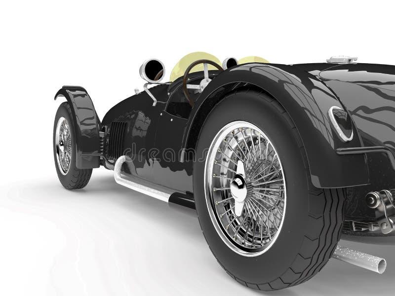 Vintage no branded car. 3d illustration vector illustration