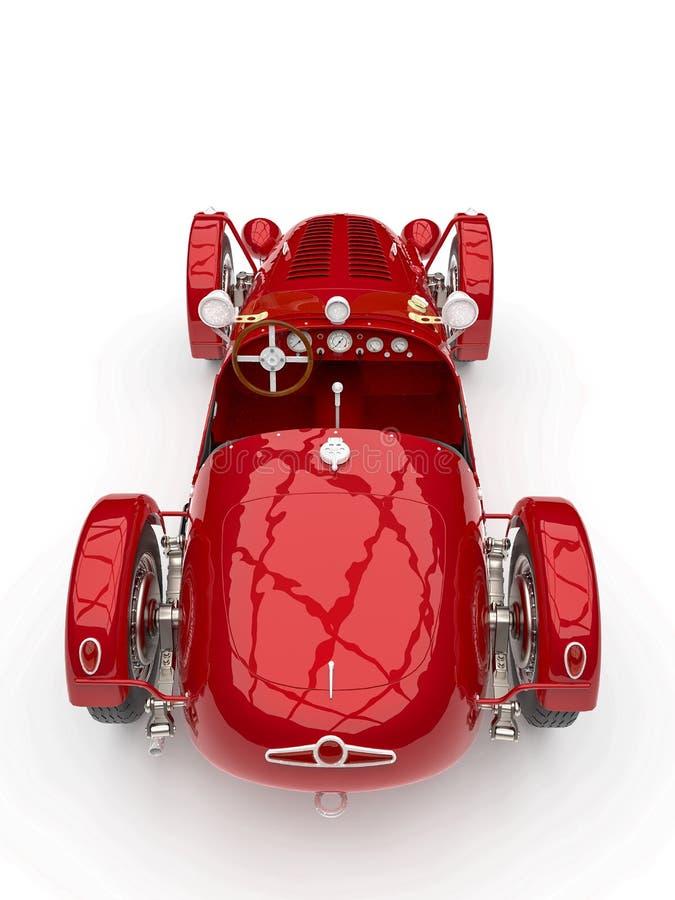 Vintage no branded car. 3d illustration royalty free illustration