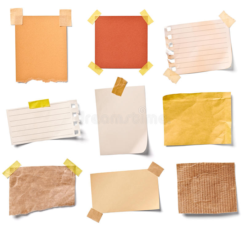 Vintage note paper stock photography