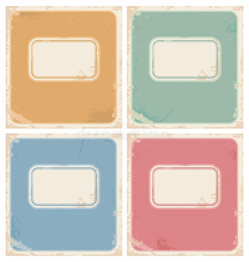 Vintage notebook covers vector illustration