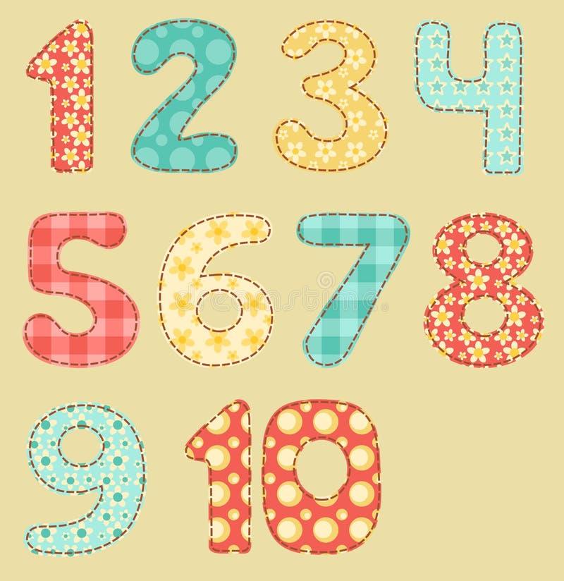 Download Vintage Numbers Patchwork Set. Stock Vector - Illustration of pattern, cute: 25357809