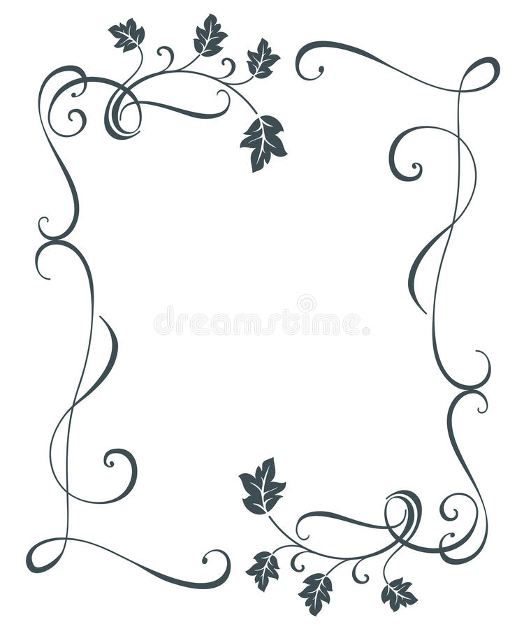 vintage oak tree leaves floral frame stock vector illustration of rh dreamstime com