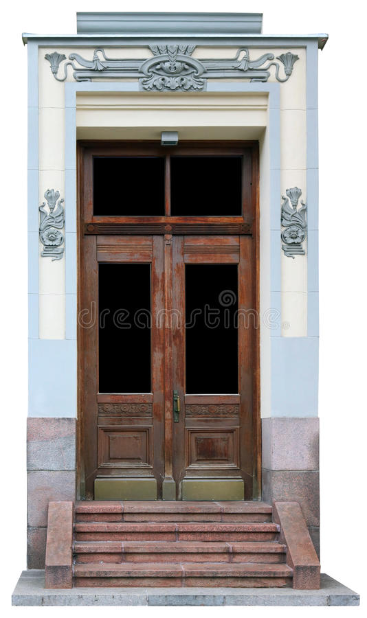 Vintage old aged oak door stock image