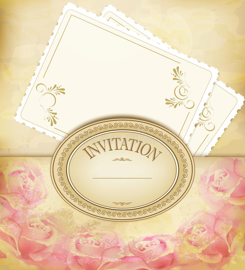 Download Vintage Old Background With Roses, Faded Paper Stock Vector - Image: 20263700