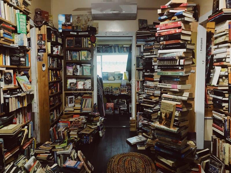 retro book shop stock photos