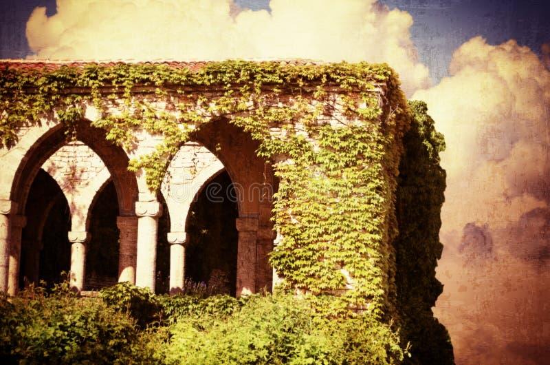 Vintage Old Castle stock illustration