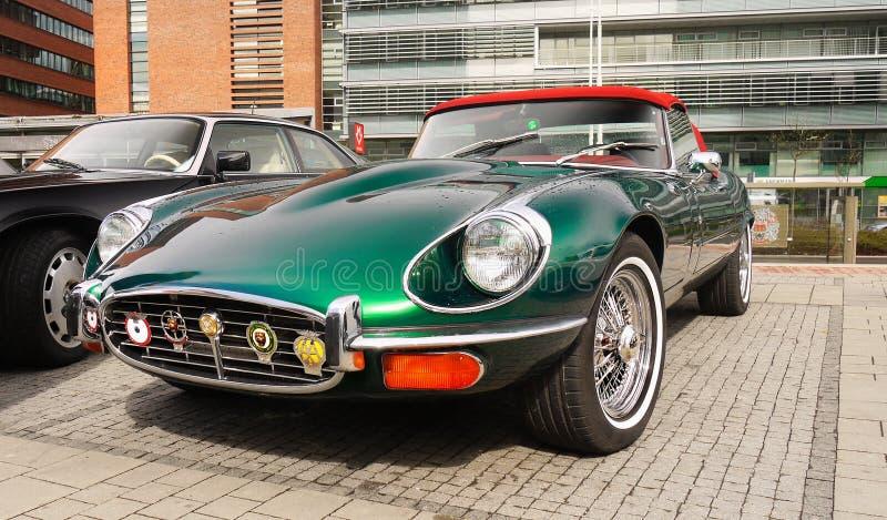 Vintage Cars, Jaguar E Type stock photos