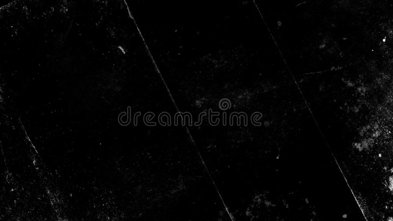 Vintage old dust scratched grunge texture on isolated black background royalty free stock photo