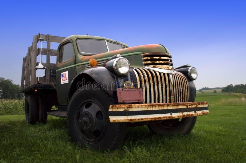 Vintage Old Farm Truck stock photos