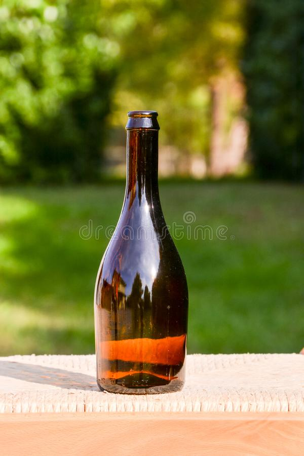 Vintage Old Fashioned Glass Bottle stock photos