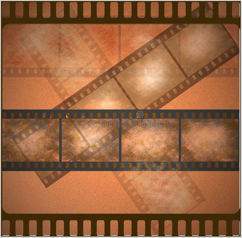 Download Vintage Old Film Art Background Stock Illustration