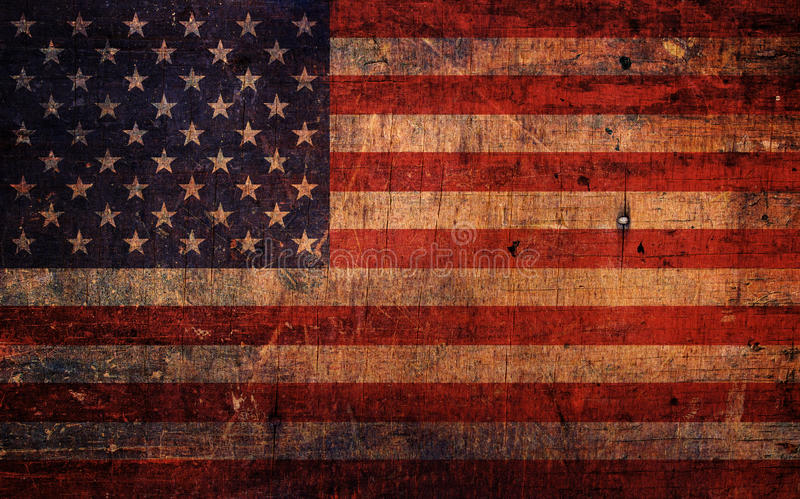 Vintage Old Grunge American Flag stock images